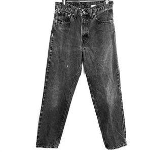 LEVI'S 550 Vintage Black Wash High Rise Unisex 90's Y2K Jeans Relaxed sz 31x30